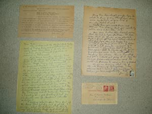 A collection of 4 letters and postcards: Lampman, Rex [