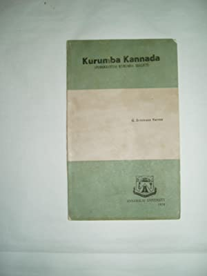 Kurumba Kannada : Pudukkottai Kurumba Dialect: Srinivasa Varma, G.