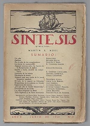 Síntesis. Artes, Ciencias y Letras. Nº 13.: Martín Noel (director)