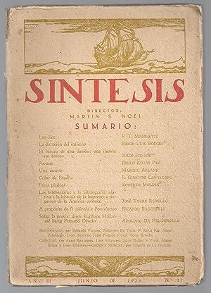 Síntesis. Artes, Ciencias y Letras. Nº 25. Junio 1929.: Mart�n Noel (director)