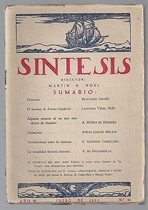 Síntesis. Artes, Ciencias y Letras. Nº 32. Enero 1930.: Martín Noel (director)