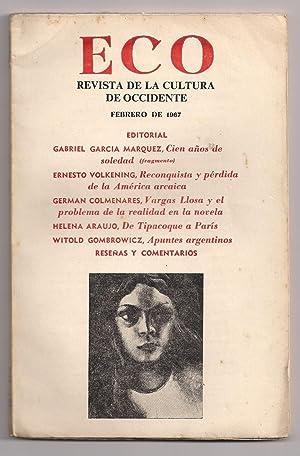 Eco. Revista De La Cultura De Occidente # 82. Febrero 1967. Tomo XIV / 4: Gabriel García ...