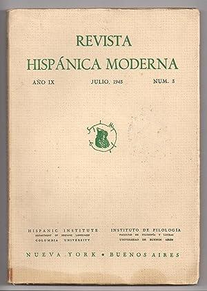 Revista Hispánica Moderna. Año IX. Nº 03.: Federico De Onís