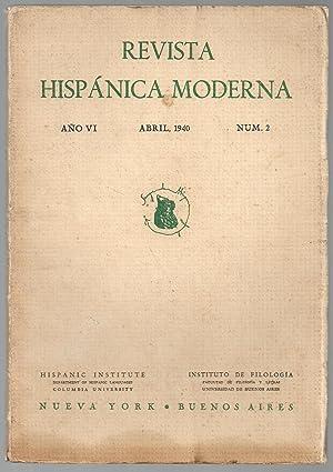 Revista Hispánica Moderna. Año VI. Abril 1940. Nº 02.: Federico De Onís (...