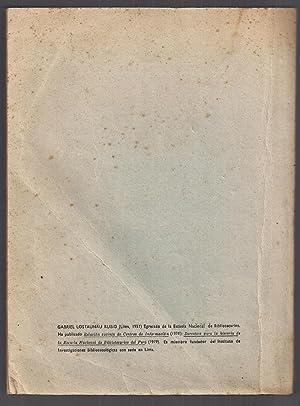Fuentes Para El Estudio Del Perú ( Bibliografía De Bibliografías ): Gabriel ...