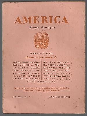 América. Revista Antológica Nº 71 Abril 1957: Marco Mill�n - Efr�n Hern�ndez - ...
