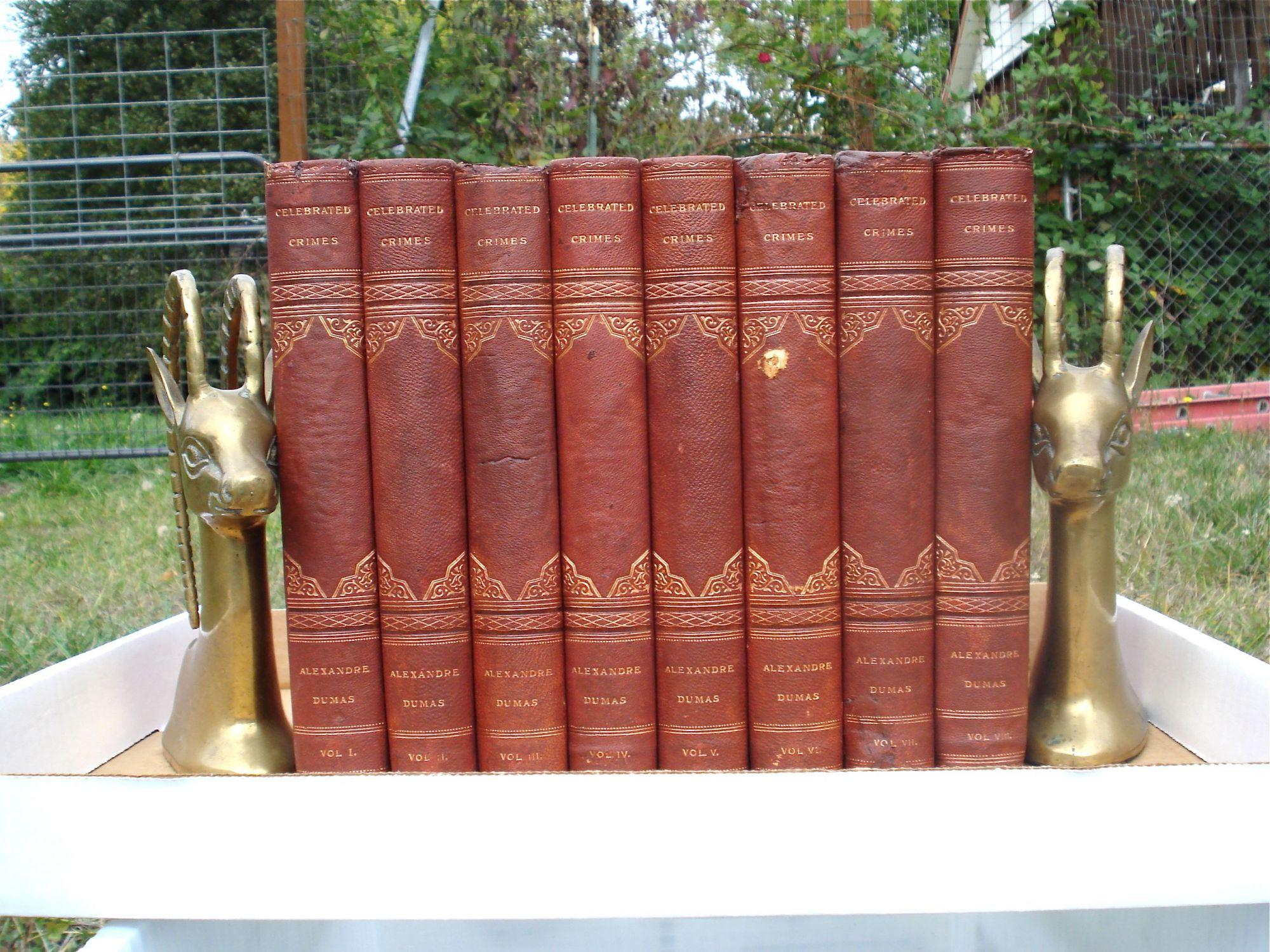 CELEBRATED CRIMES (8 Volumes): DUMAS, ALEXANDRE