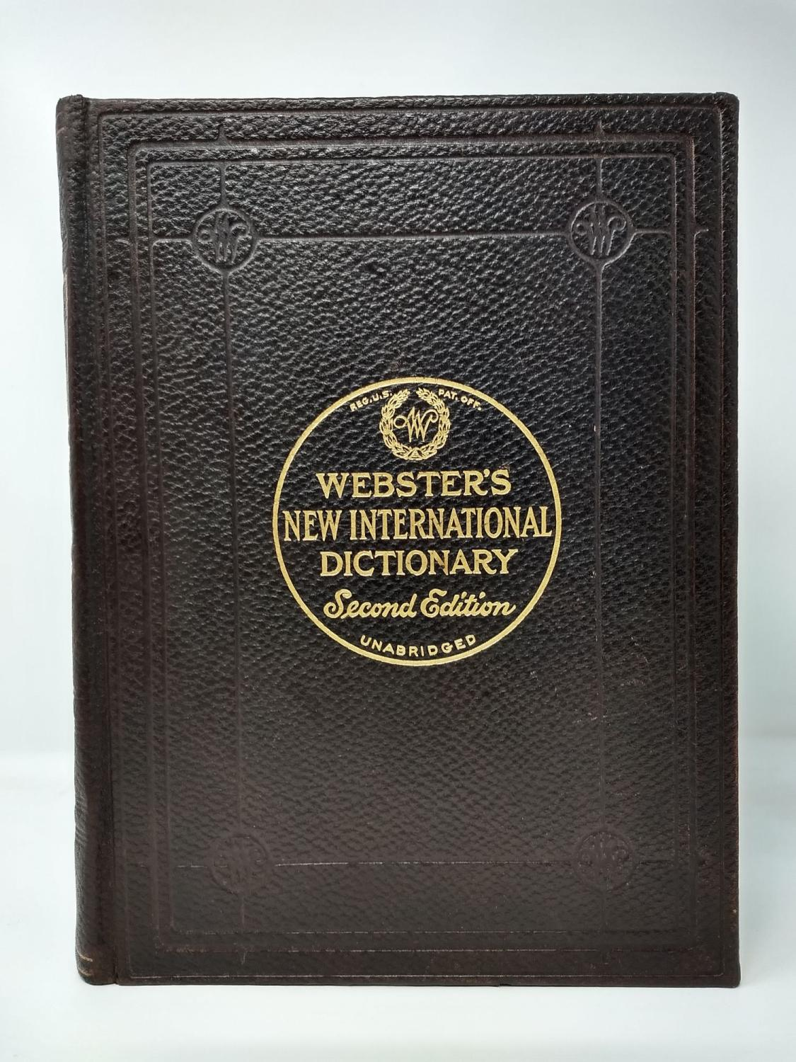 Webster S New International Dictionary Of
