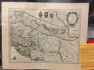 SCLAVONIA, CROATIA, BOSNIA CUM DALMATIAE PARTE (MAP, 1645): Blaeu, Willem (after Gerard Mercator)