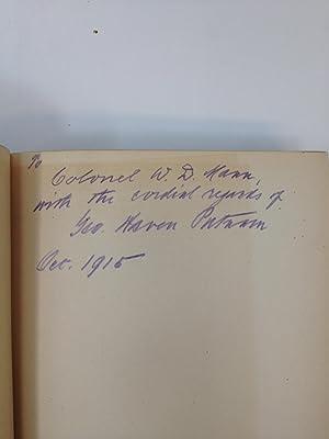 MEMORIES OF A PUBLISHER 1865-1915 (SIGNED): Putnam, George Haven, Litt.D.