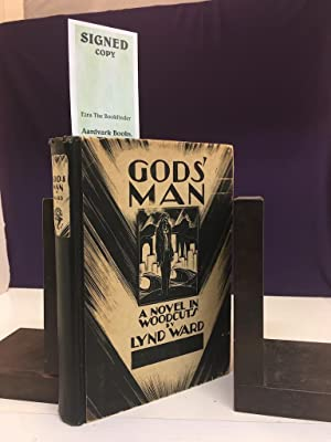 GODS' MAN: A NOVEL IN WOODCUTS (SIGNED): Ward, Lynd