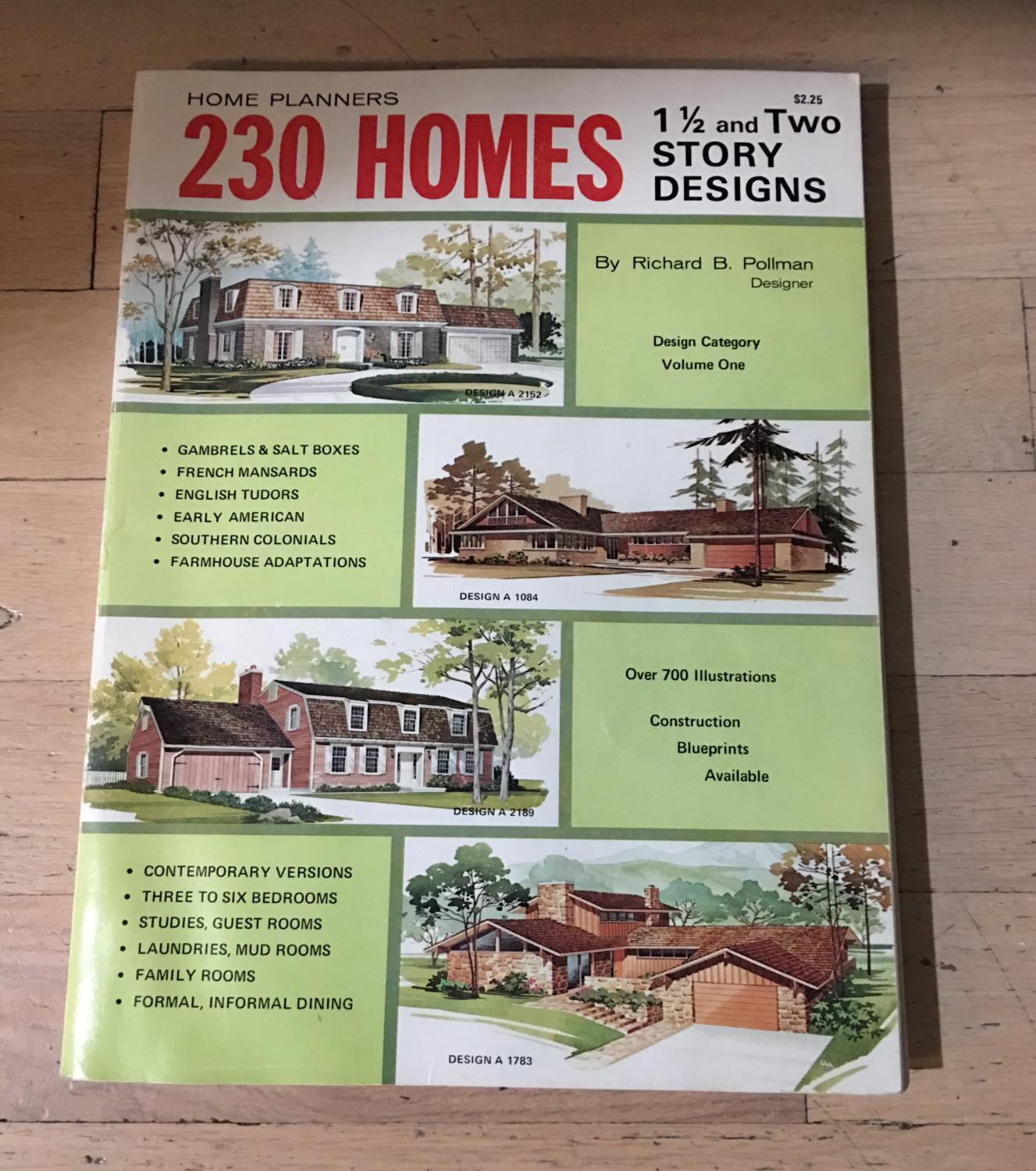 Home Planners 230 Homes ~1 1/2 And Two Story Designs: Richard B