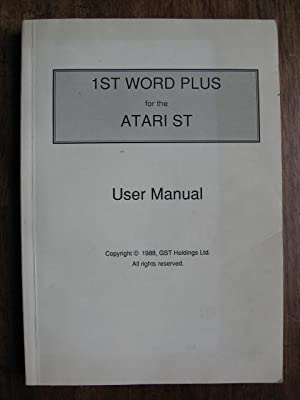 1st Word Plus for the ATARI ST. User Manual