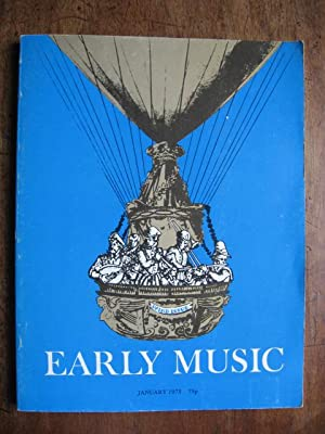 Early Music. Volume 3 No 1 January 1975
