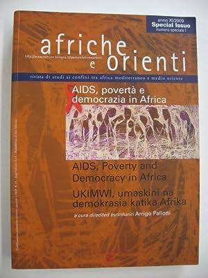 Afriche e Orienti (2009) vol. 1. AIDS, povertà e democrazia in Africa : AIDS, Poverty and Democracy...