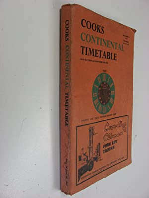 Cooks Continental Timetable May 28 - June 30 1967. Railway and Local Steamship Services Guide.