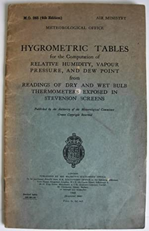 Hygrometric Tables: Meteorological Office