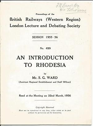 Proceedings of the British Railways (Western Region): Ward S.G.