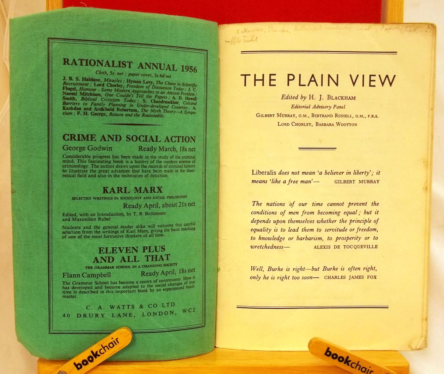 the plain view spring 1956 by ronald fletcher the ethiocal union