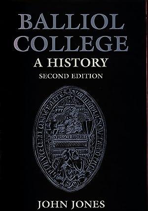 Balliol College a History - second edition: Jones John