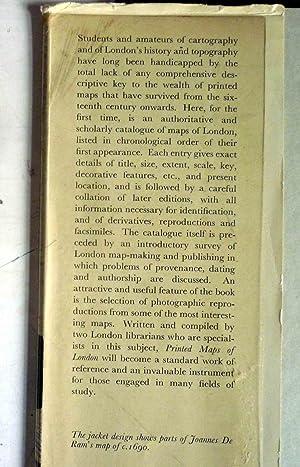 PRINTED MAPS OF LONDON circa 1553-1850: Darlington, Ida, and Howgego, James