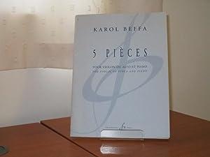 5 PIECES for Violin or Viola and Piano: Beffa, Karol