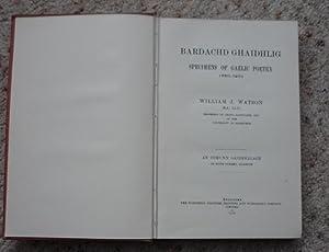 Bardachd Ghaidhlig - Specimens of Gaelic Poetry 1550-1900: Watson, William J.