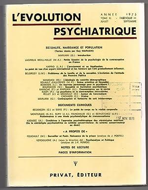 L'Evolution Psychiatrique : juillet - septembre 1975: TRILLAT, Etienne (ed.)