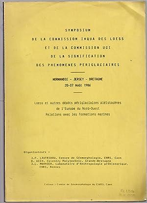 Loess et autres dépôts périglaciaires pléistocènes de l'Europe du Nord-Ouest - Relations avec ...