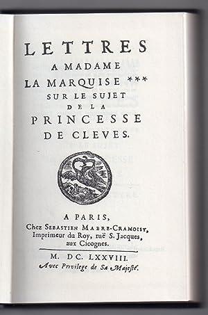 Lettres à Madame la Marquise*** sur le: Du Trousset de