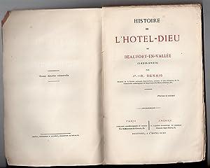 Histoire de l'Hôtel-Dieu de Beaufort-en-Vallée ( 1412-1810 ): DENAIS, Jh.-R