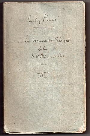 Les Manuscrits François de la Bibliothèque du Roi leur histoire et celle des textes allemands ...