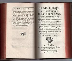 Bibliothèque Universelle des Romans : Novembre 1775 & Décembre 1775: PAULMY Marquis de & ...