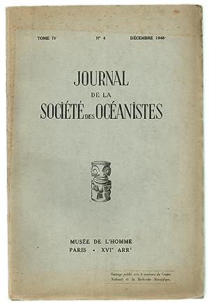 Journal de la Société des Océanistes N°4 ( 1948 ): LEENHARDT, Maurice (ed.)