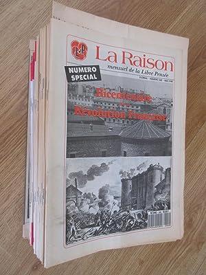 La Raison mensuel de la Libre Pensée : 50 numéros (sur 51) du n°335 (décembre 1988) au n°385 (...