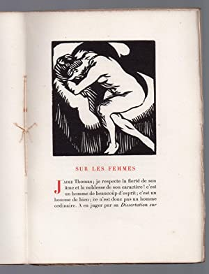Sur les Femmes : Edition ornée de gravures sur bois originales par Hermann-Paul: DIDEROT, Denis