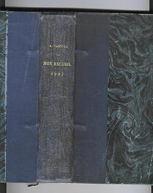 Mon recueil destiné au corps des gardiens de la paix: DABOVAL, André