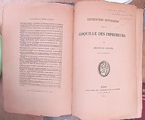 Recherches Historiques sur les Coquilles des Imprimeurs: LOCARD, Arnould