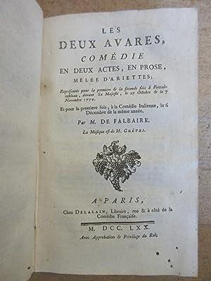7 Pièces de Théâtre du XVIIIe reliées en 1 volume : Les Femmes et le Secret + On fait ce qu'on ...