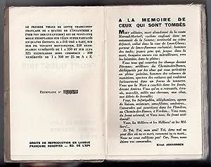 Quatre de l'Infanterie - Front Ouest 1918 : traduit de l'allemand par Emile Storz et Victor...