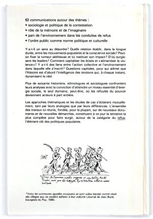 Mouvements Populaires et Conscience Sociale XVIe - XIXe siècles : Actes du Colloque de Paris 24-26 ...