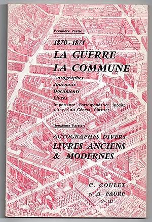 Catalogue n°123 ] : Première Partie : COULET, C. &