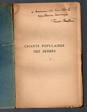 Chants Populaires des Serbes : traduction avec une introduction et des notes