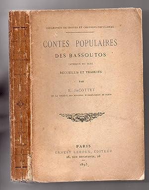 Contes populaires des Bassoutos (Afrique du Sud) recueillis et traduits: JACOTTET, E