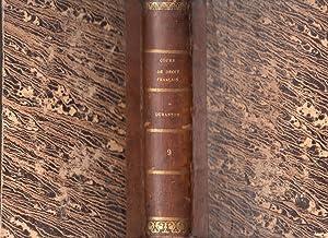 Cours de Droit Français suivant le Code Civil. Tome IX. 3e édition: DURANTON, M
