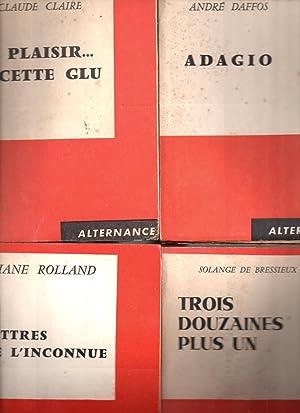 Lot de 22 livres aux Editions du Scorpion Collection Alternance : Adagio + Le plaisir cette glu + ...