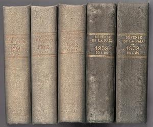 Défense de la Paix : du n°1 juin 1951 au n°32 janvier 1954 reliés en 5 volumes: COT, Pierre (...