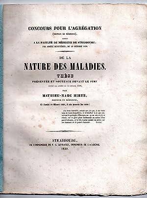 De la nature des maladies: HIRTZ, Mathieu-Marc