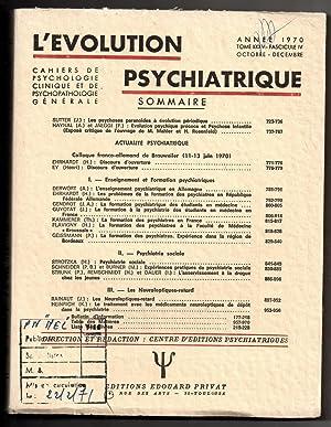 L'Evolution Psychiatrique- Cahiers de Psychologie Clinique et: EY, Henri (ed.)