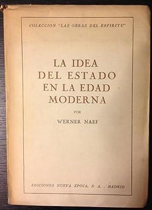 LA IDEA DEL ESTADO EN LA EDAD: NAEF, Werner